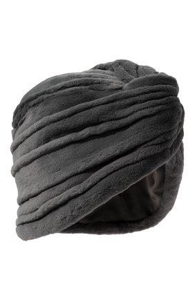 Женская шапка из меха норки KUSSENKOVV серого цвета, арт. 140110008272   Фото 1 (Материал: Натуральный мех; Статус проверки: Проверена категория)