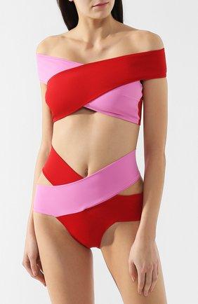 Женский раздельный купальник с контрастной отделкой OYE розового цвета, арт. LUCETTE | Фото 2