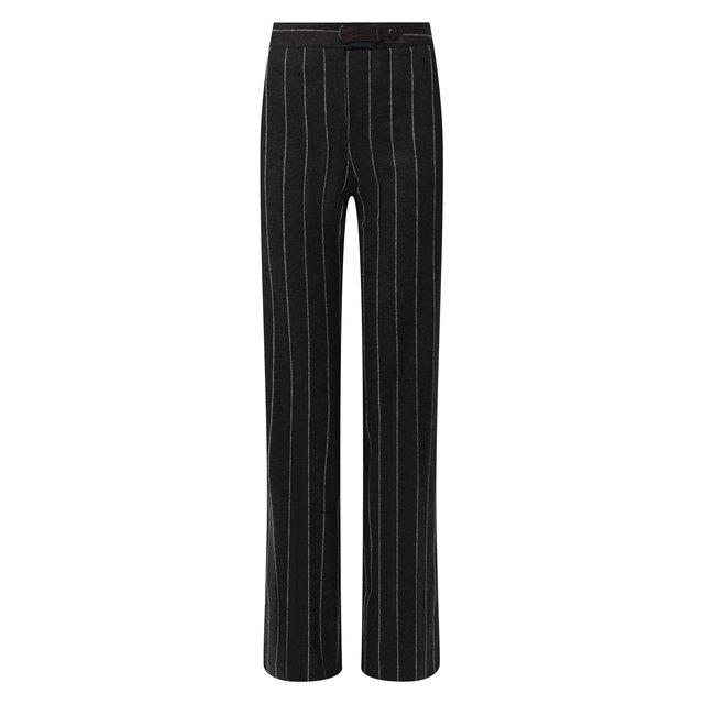 Шерстяные брюки в полоску Giorgio Armani