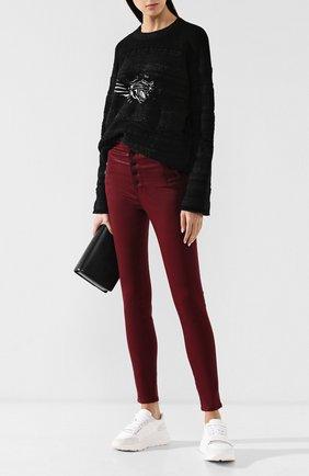 Женские джинсы-скинни на пуговицах J BRAND бордового цвета, арт. JB001421/A | Фото 2