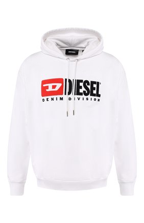 Хлопковое худи Diesel белый | Фото №1