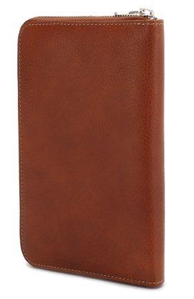 Мужская кожаный футляр для документов BRUNELLO CUCINELLI коричневого цвета, арт. MWZIU180 | Фото 2