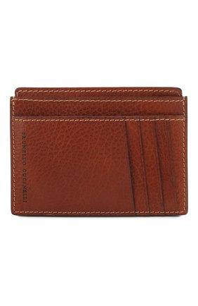 Мужской кожаный футляр для кредитных карт BRUNELLO CUCINELLI коричневого цвета, арт. MWZIU320 | Фото 1