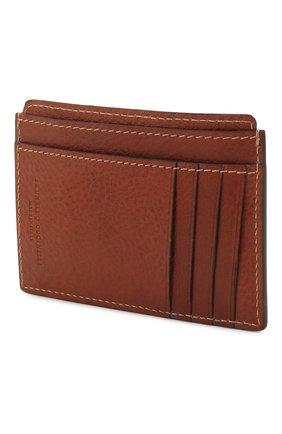 Мужской кожаный футляр для кредитных карт BRUNELLO CUCINELLI коричневого цвета, арт. MWZIU320 | Фото 2
