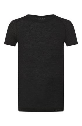 Мужские футболка из смеси шерсти и шелка FALKE темно-серого цвета, арт. 33423 | Фото 1