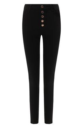 Женские джинсы-скинни на пуговицах PAIGE черного цвета, арт. 4881521-2139 | Фото 1