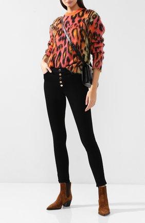 Женские джинсы-скинни на пуговицах PAIGE черного цвета, арт. 4881521-2139 | Фото 2