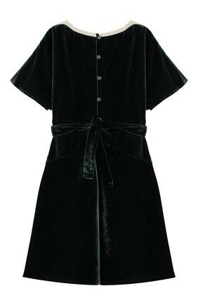 Бархатное платье с поясом | Фото №2