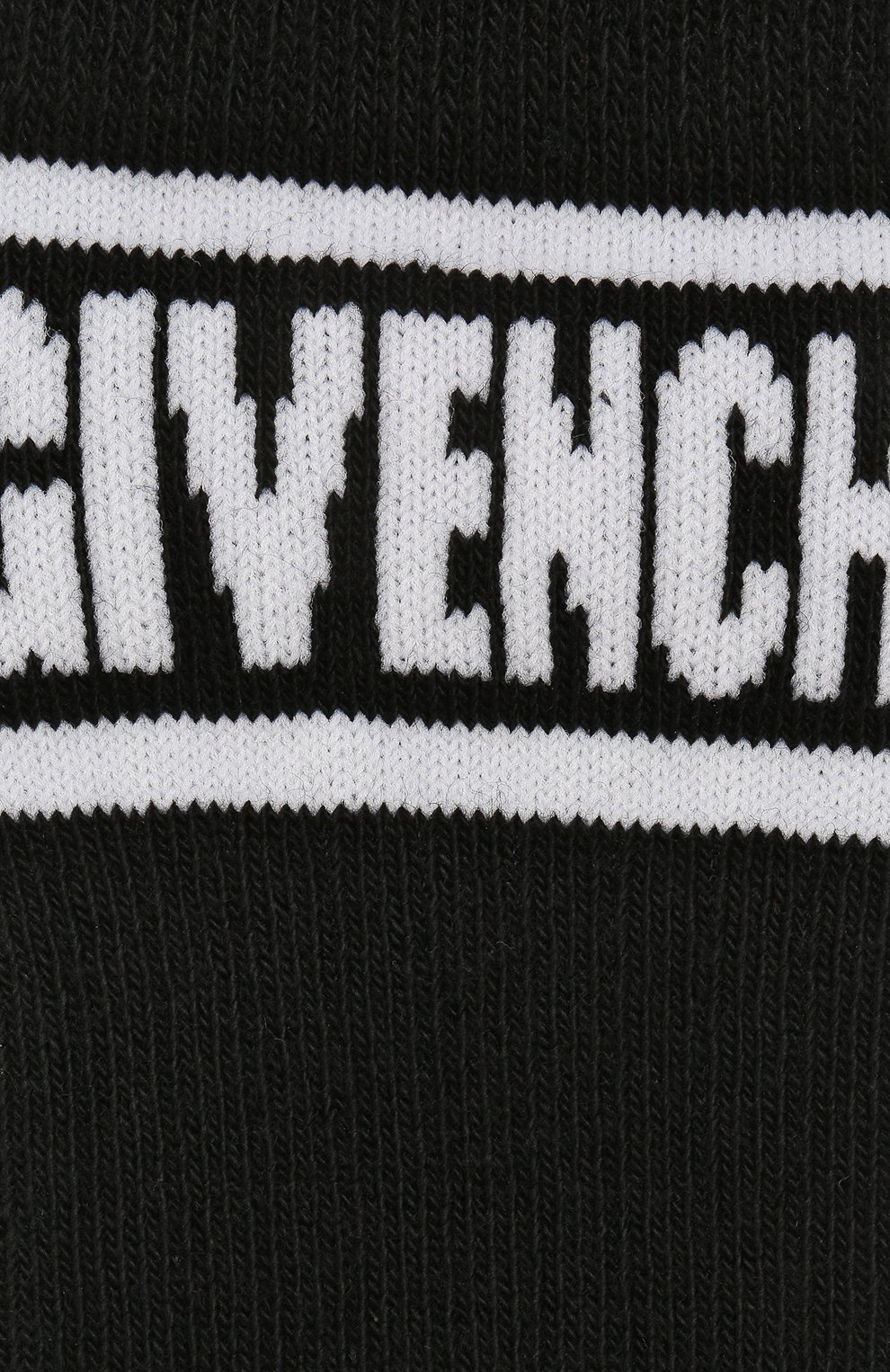 Детские хлопковые гольфы Givenchy черного цвета | Фото №2