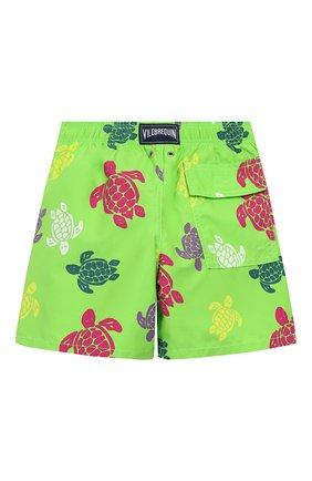 Детские плавки-шорты VILEBREQUIN светло-зеленого цвета, арт. JIME9B37 | Фото 2