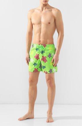 Мужские плавки-шорты VILEBREQUIN светло-зеленого цвета, арт. MOOE9B37 | Фото 2