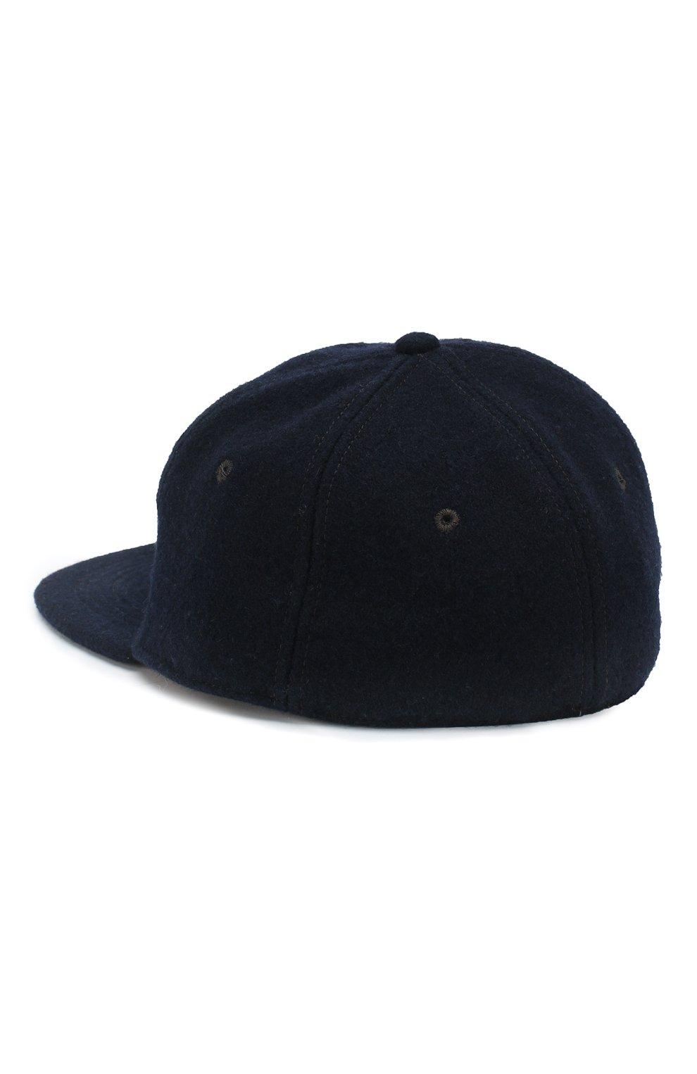 Мужской бейсболка из смеси шерсти и вискозы RRL темно-синего цвета, арт. 782713145   Фото 2