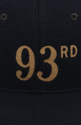 Мужской бейсболка из смеси шерсти и вискозы RRL темно-синего цвета, арт. 782713145   Фото 3