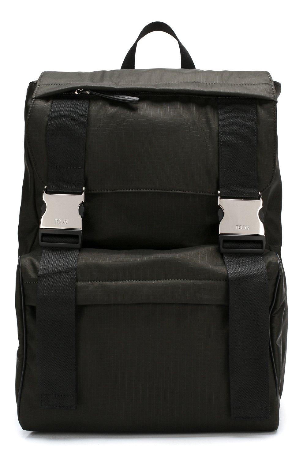 Текстильный рюкзак с двумя застежками | Фото №1