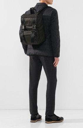 Текстильный рюкзак с двумя застежками | Фото №2
