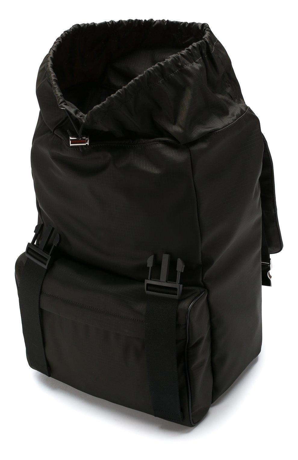 Текстильный рюкзак с двумя застежками | Фото №4