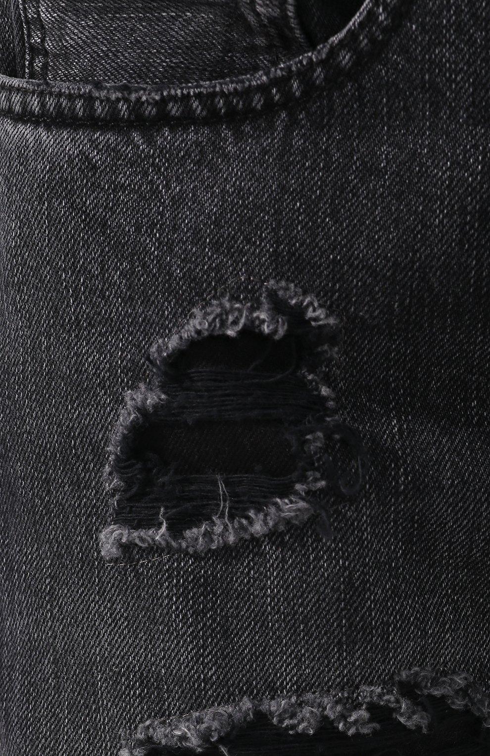Джинсы-скинни Alexander McQueen серые | Фото №5