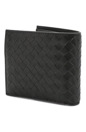Мужской кожаное портмоне BOTTEGA VENETA темно-серого цвета, арт. 193642/V4651 | Фото 2