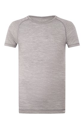 Мужские футболка из смеси шерсти и шелка FALKE серого цвета, арт. 33423 | Фото 1