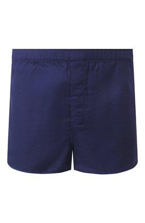 Мужские хлопковые боксеры DEREK ROSE темно-синего цвета, арт. 6050-L0MB006 | Фото 1