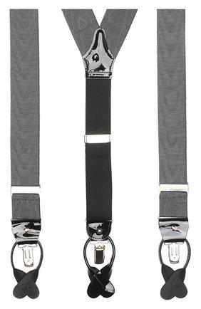 Мужские подтяжки с кожаной отделкой ALBERT THURSTON темно-серого цвета, арт. 65R/M0IRE | Фото 2