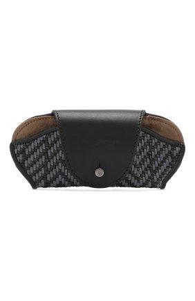 Мужской кожаный футляр для очков ERMENEGILDO ZEGNA темно-серого цвета, арт. E1229P-PSL | Фото 1