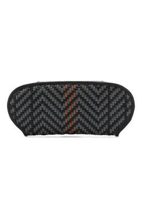 Мужской кожаный футляр для очков ERMENEGILDO ZEGNA темно-серого цвета, арт. E1229P-PSL | Фото 2