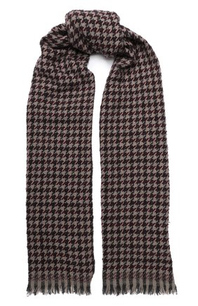 Мужской шарф из смеси кашемира и шерсти BRUNELLO CUCINELLI бордового цвета, арт. 6160RMSC | Фото 1