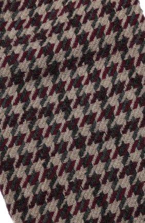 Мужской шарф из смеси кашемира и шерсти BRUNELLO CUCINELLI бордового цвета, арт. 6160RMSC | Фото 2