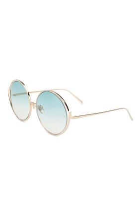 Мужские солнцезащитные очки LINDA FARROW голубого цвета, арт. LFL680C9 SUN | Фото 1