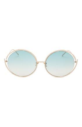 Мужские солнцезащитные очки LINDA FARROW голубого цвета, арт. LFL680C9 SUN | Фото 2