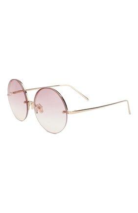 Женские солнцезащитные очки LINDA FARROW розового цвета, арт. LFL565C11 SUN | Фото 1