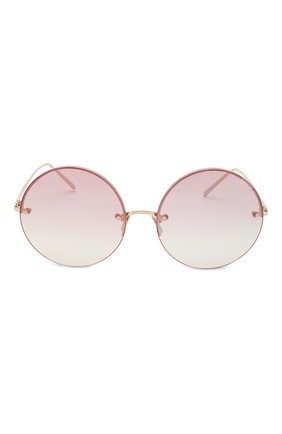 Женские солнцезащитные очки LINDA FARROW розового цвета, арт. LFL565C11 SUN | Фото 2