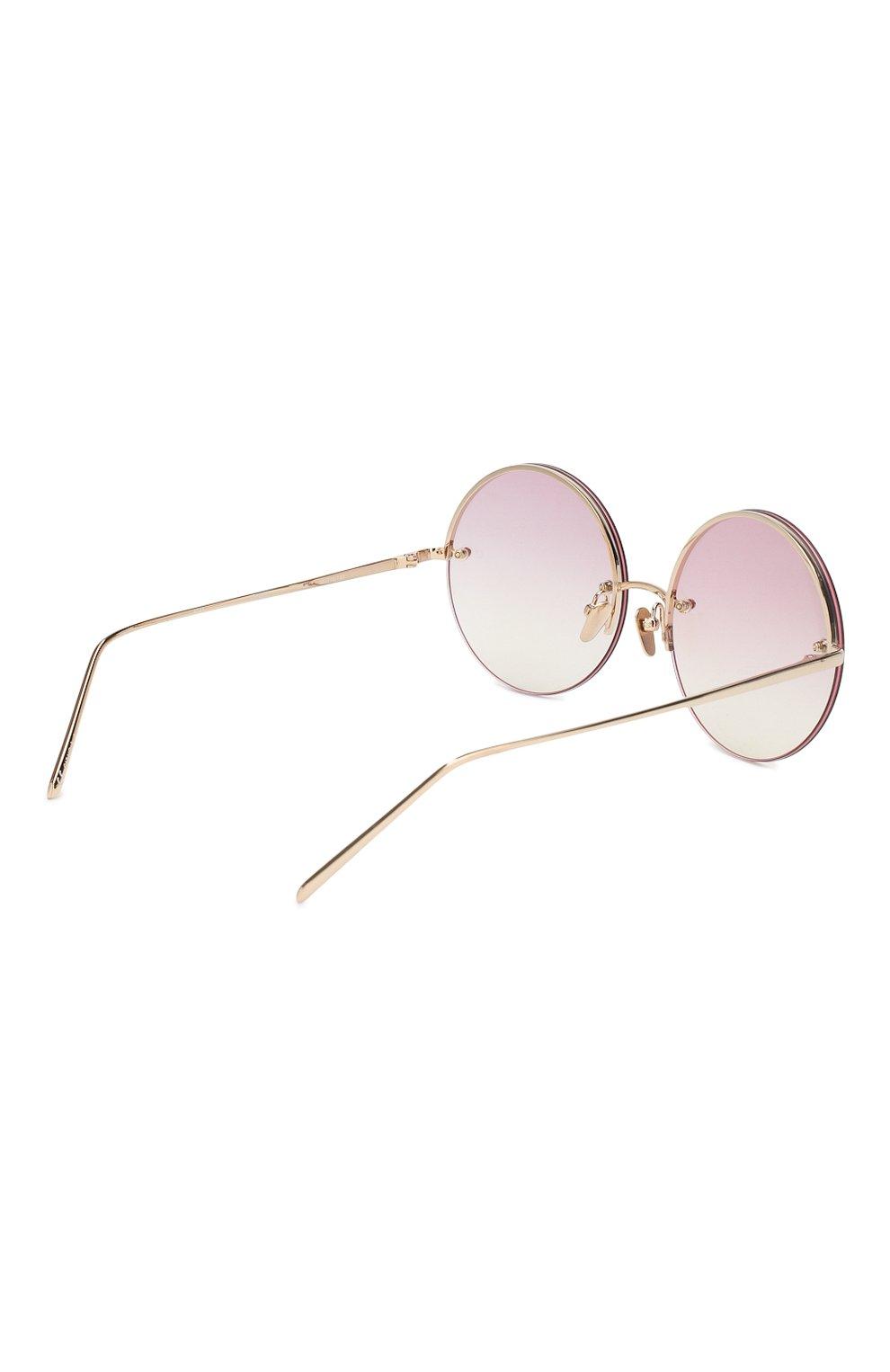 Женские солнцезащитные очки LINDA FARROW розового цвета, арт. LFL565C11 SUN | Фото 3