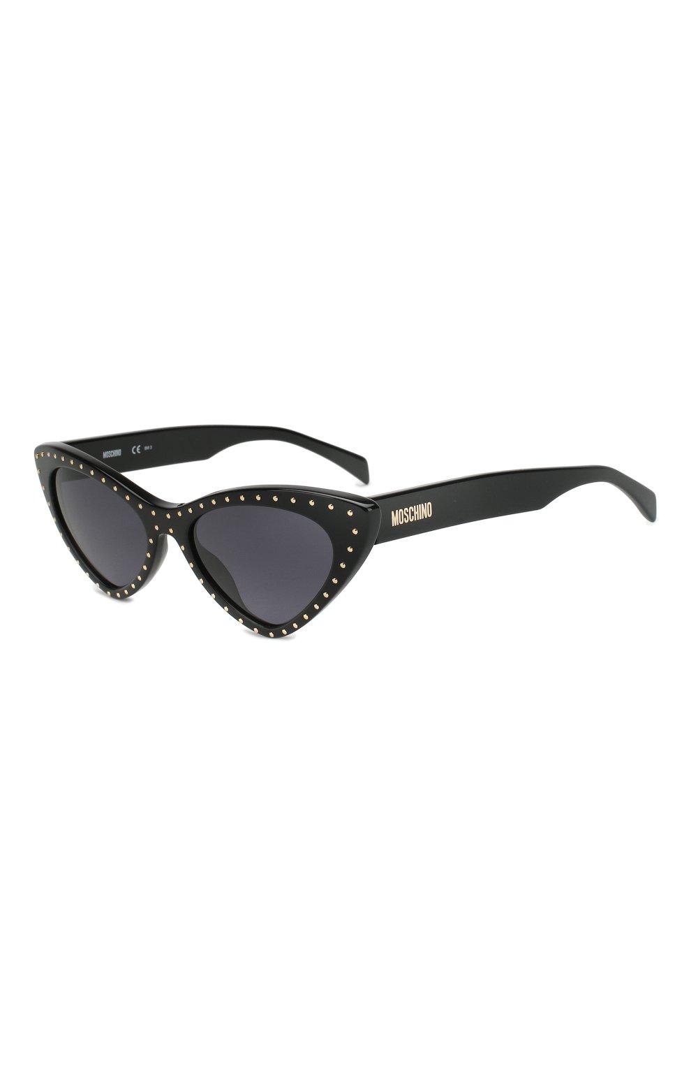 Женские солнцезащитные очки MOSCHINO черного цвета, арт. M0S006 807 | Фото 1