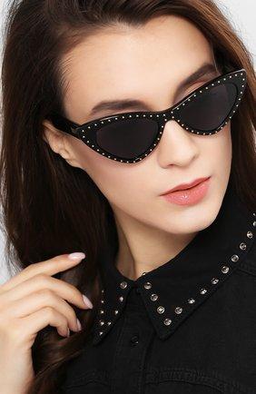 Мужские солнцезащитные очки MOSCHINO черного цвета, арт. M0S006 807 | Фото 2