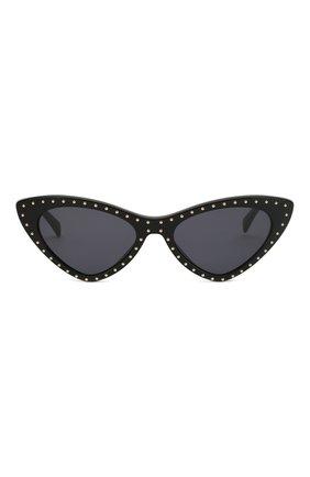 Женские солнцезащитные очки MOSCHINO черного цвета, арт. M0S006 807 | Фото 3