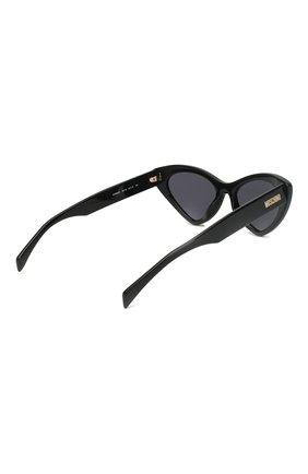Женские солнцезащитные очки MOSCHINO черного цвета, арт. M0S006 807 | Фото 4