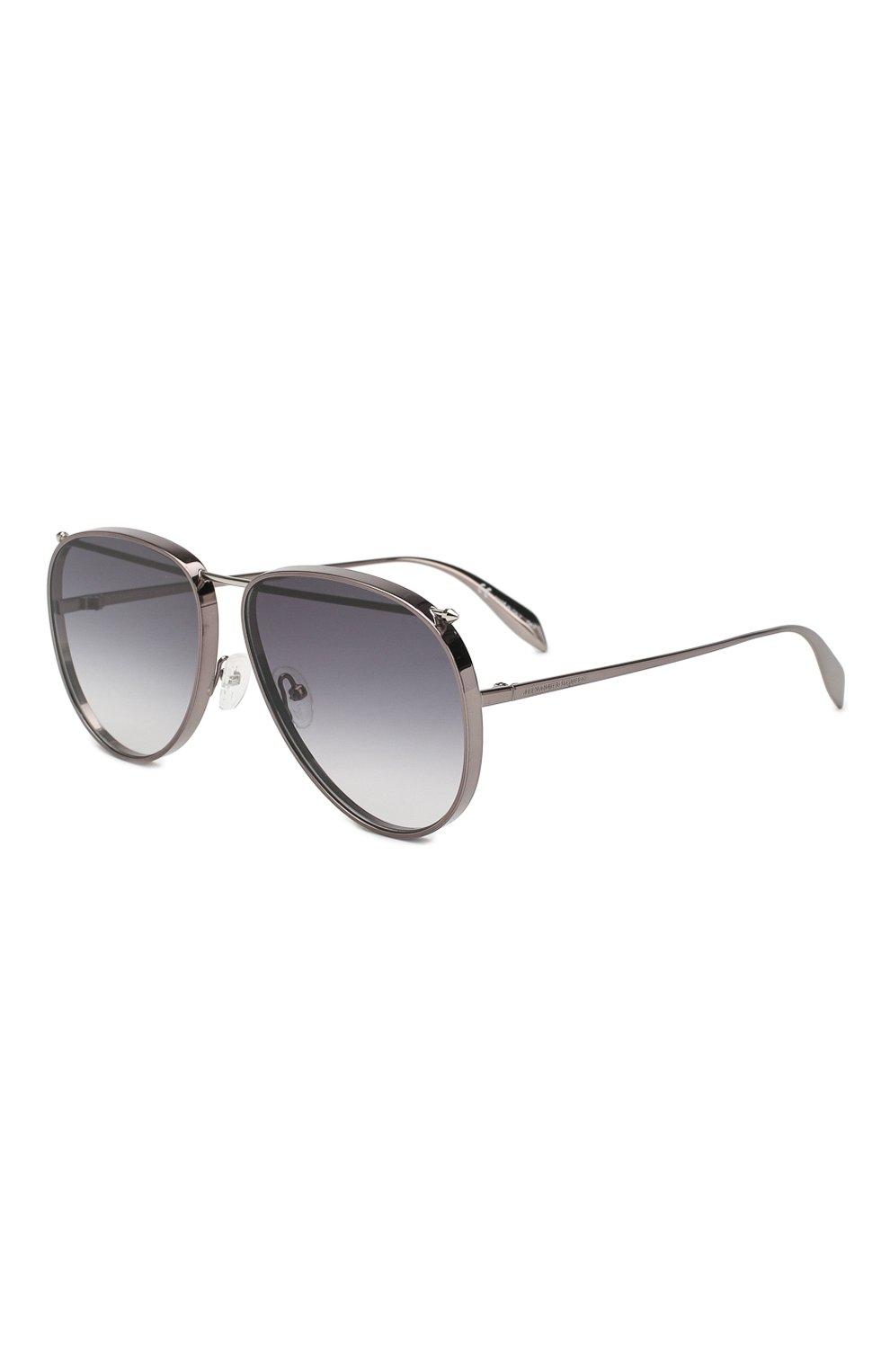 Женские солнцезащитные очки ALEXANDER MCQUEEN серого цвета, арт. AM0170 003 | Фото 1
