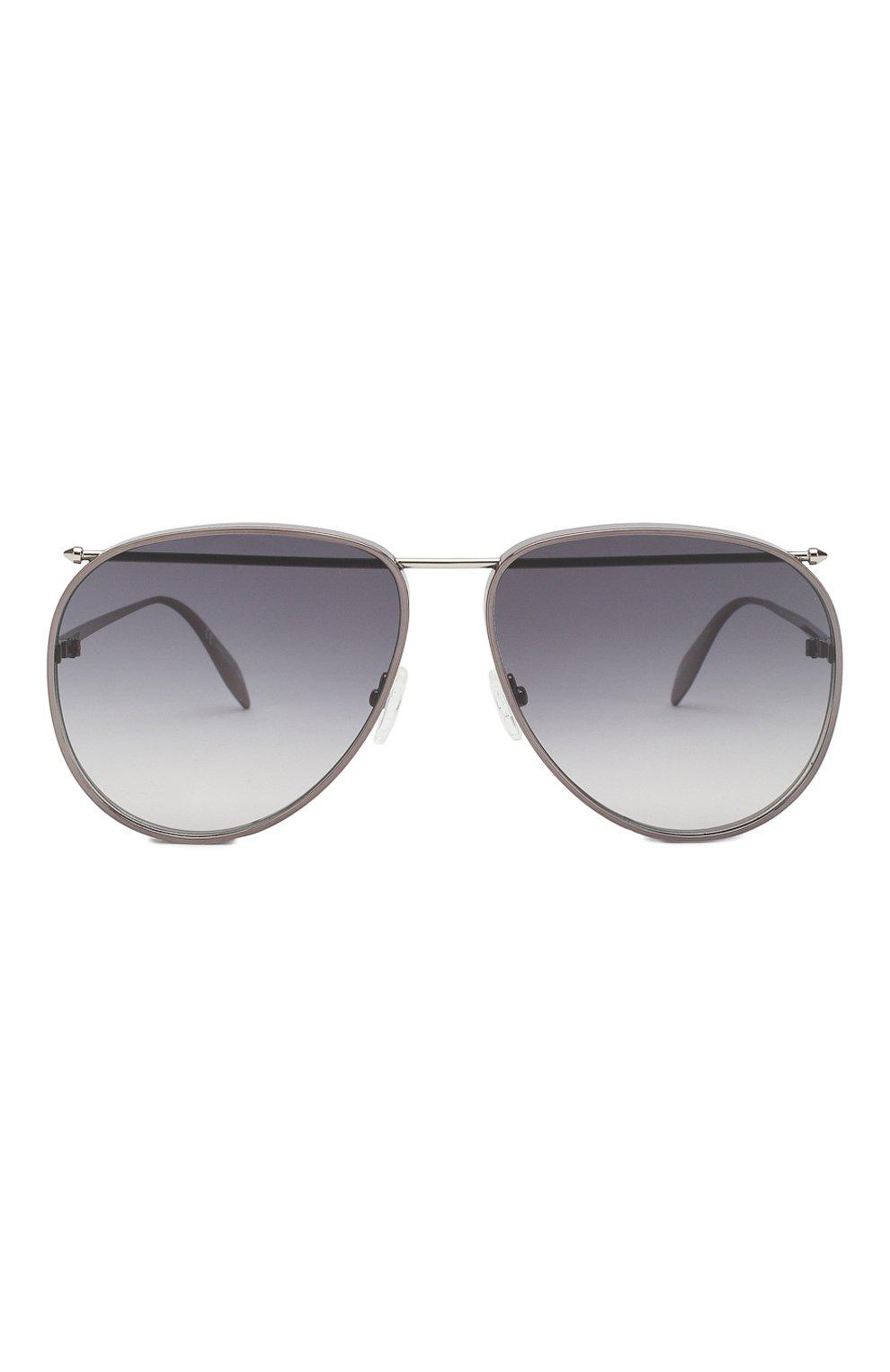 Женские солнцезащитные очки ALEXANDER MCQUEEN серого цвета, арт. AM0170 003 | Фото 2