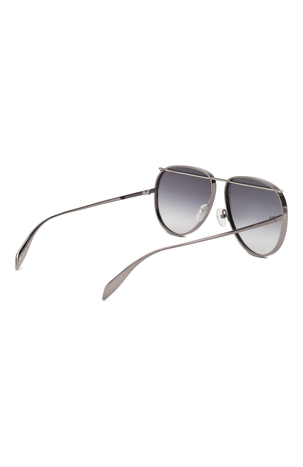 Женские солнцезащитные очки ALEXANDER MCQUEEN серого цвета, арт. AM0170 003 | Фото 3