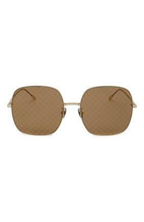 Солнцезащитные очки Bottega Veneta золотые   Фото №3