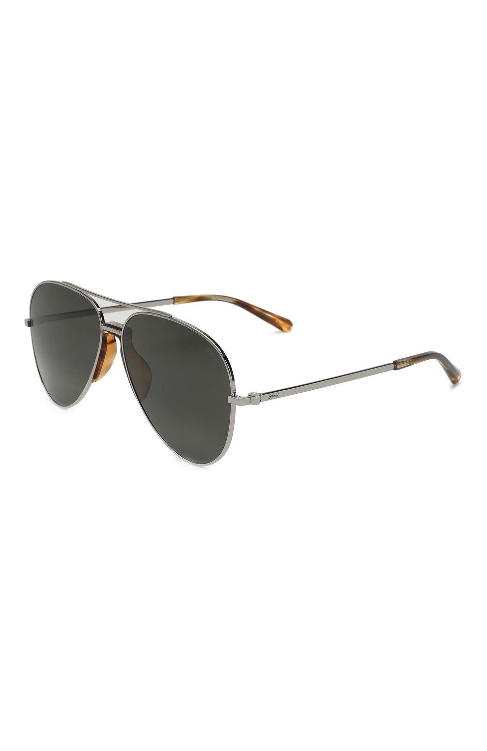 Мужские солнцезащитные очки BRIONI серого цвета, арт. BR0052 002 | Фото 1