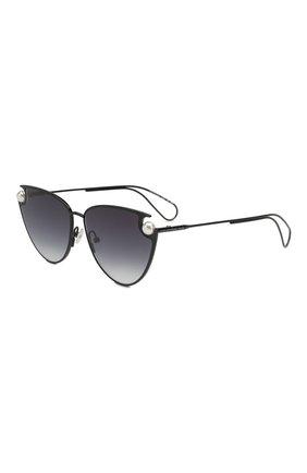 Женские солнцезащитные очки CHRISTOPHER KANE черного цвета, арт. CK0029 001 | Фото 1