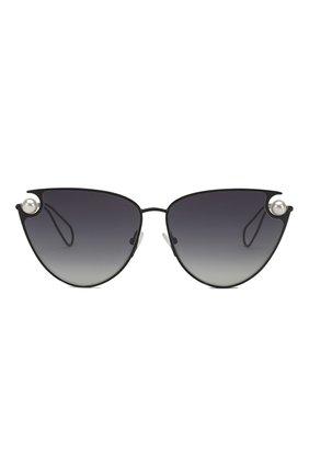 Женские солнцезащитные очки CHRISTOPHER KANE черного цвета, арт. CK0029 001 | Фото 2