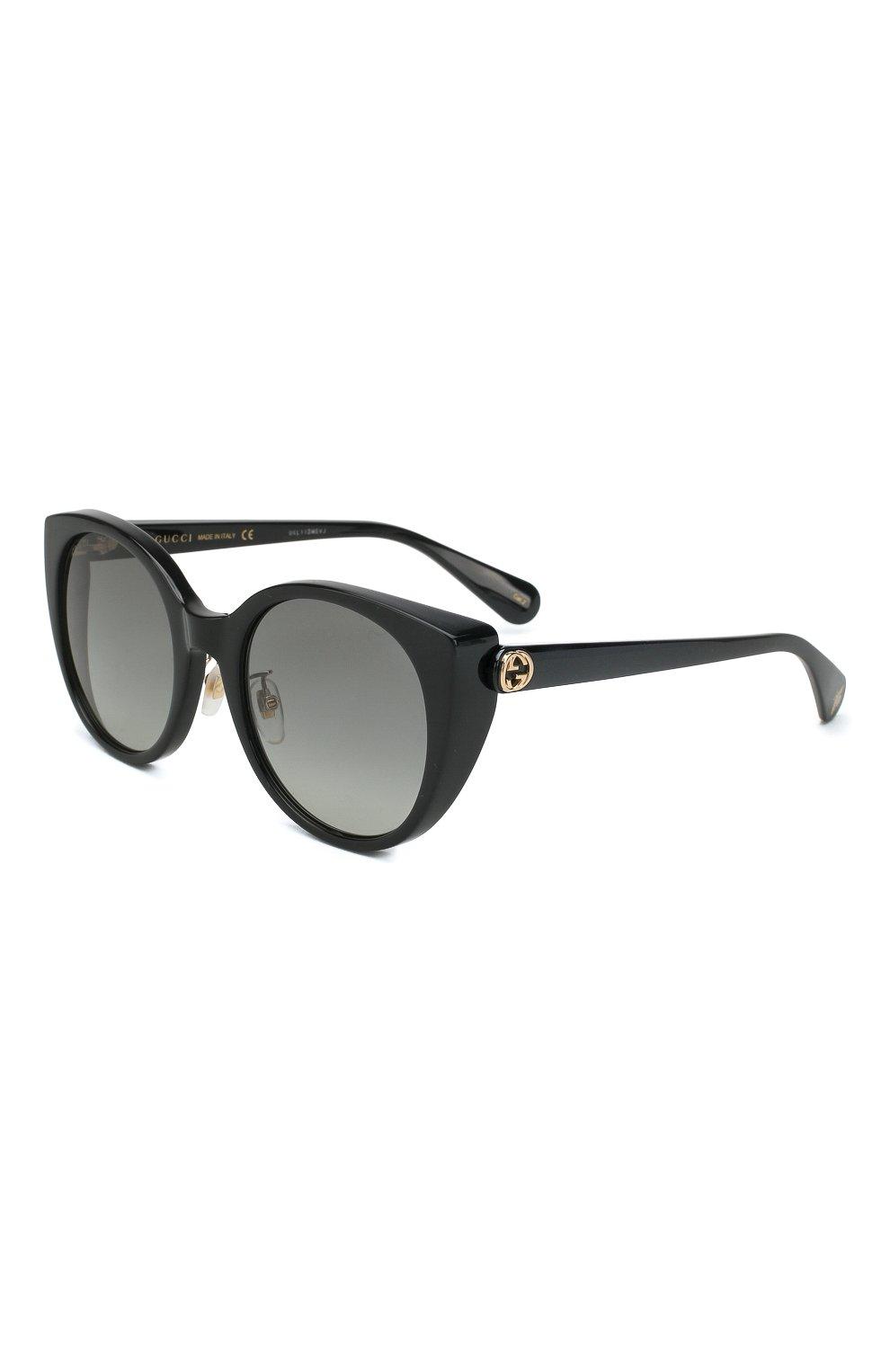 Женские солнцезащитные очки GUCCI черного цвета, арт. GG0369 001 | Фото 1