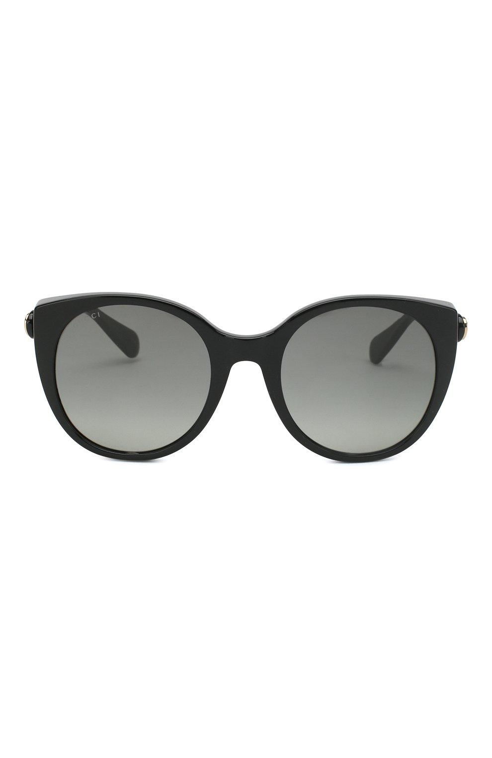 Женские солнцезащитные очки GUCCI черного цвета, арт. GG0369 001 | Фото 2