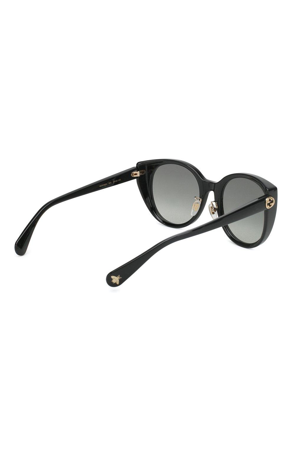 Женские солнцезащитные очки GUCCI черного цвета, арт. GG0369 001 | Фото 3