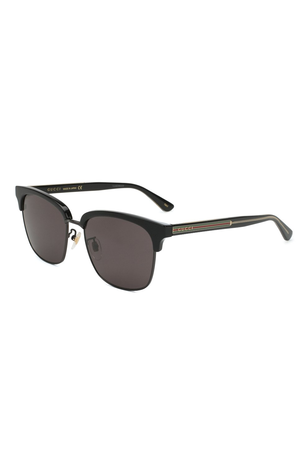 Женские солнцезащитные очки GUCCI черного цвета, арт. GG0382 001 | Фото 1