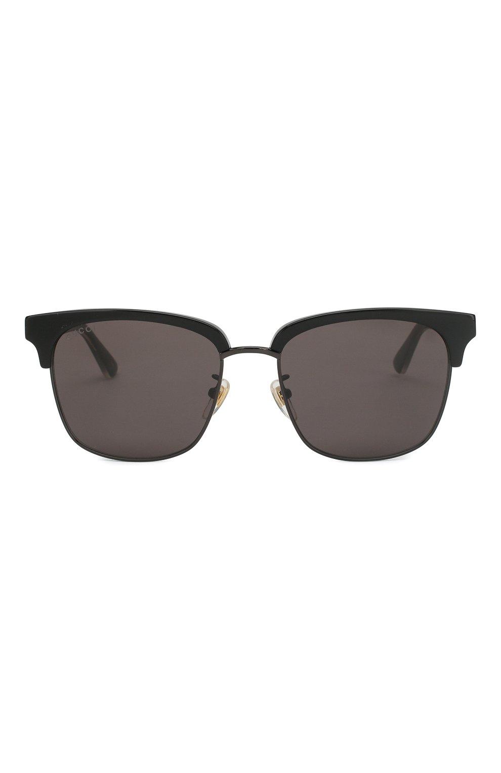 Женские солнцезащитные очки GUCCI черного цвета, арт. GG0382 001 | Фото 2